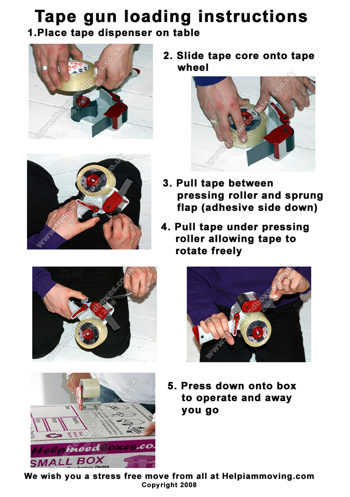 How to use your duck® packing tape gun youtube.