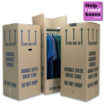enlarged view of  Tall Wardrobe Boxes (Heavy Duty) - Pack Of 2