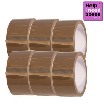 Standard Brown Tape - 6 Pack