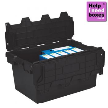 enlarged view of  5 X 80 Litre Plastic Storage Crate